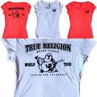 NEW TRUE RELIGION SALE Women Red or White V Neck Flock Soft T Shirt XS,S,M,L,XL