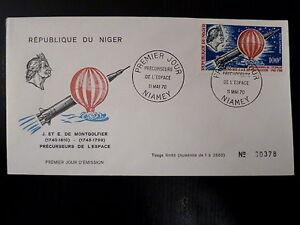 NIGER-AERIEN-123-PREMIER-JOUR-FDC-ESPACE-MONTGOLFIER-100F-1970