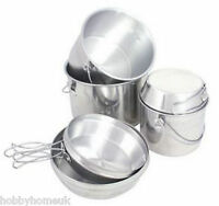 NESTING BILLY CAN COOKING SET CAMPING POTS PANS STOVE