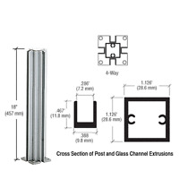 Crl Satin Anodized 18 4-way Design Series Partition Post