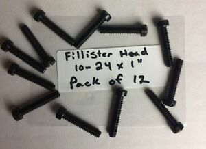 "6-48 x 3//16/"" Fillister Head Blued Screws NOS 12"