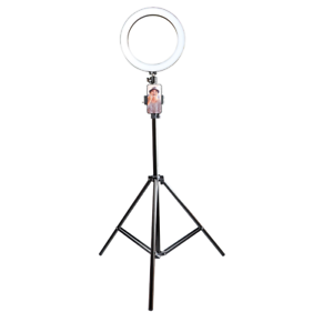 10-5-034-LED-Studio-Camera-Selfie-Ring-Light-w-Phone-Holder-Dimmable-Tripod-Stand