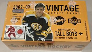 2002-03-Upper-Deck-Vintage-Hockey-FACTORY-SEALED-Hobby-Box-TALL-BOYS-Boxtopper