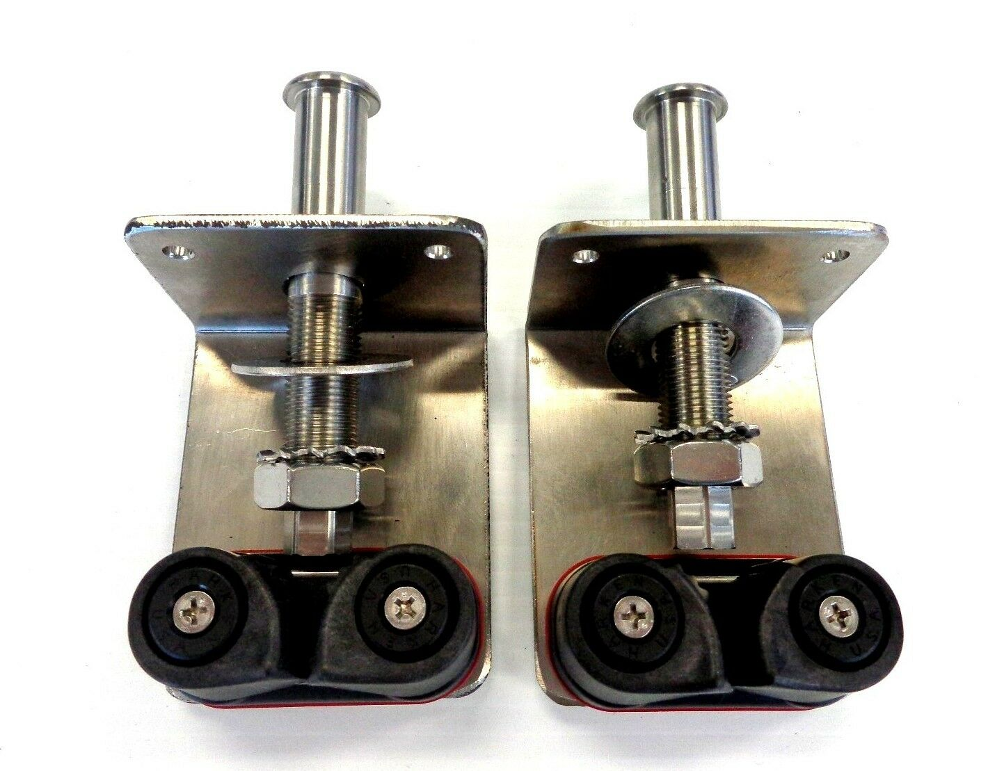 Abaco Adjustable Halyard Outrigger Tensioner Kit 4  Fairlead - Pair, Stainless