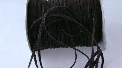 2M Faux Suede Flat Cord Necklace String Thong Lace Craft Beads 3mm wide