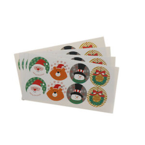 32x-Santa-Claus-Party-Gift-Cake-Candy-Baking-Bag-Sticker-Seals-Labels-Tags-ATAU
