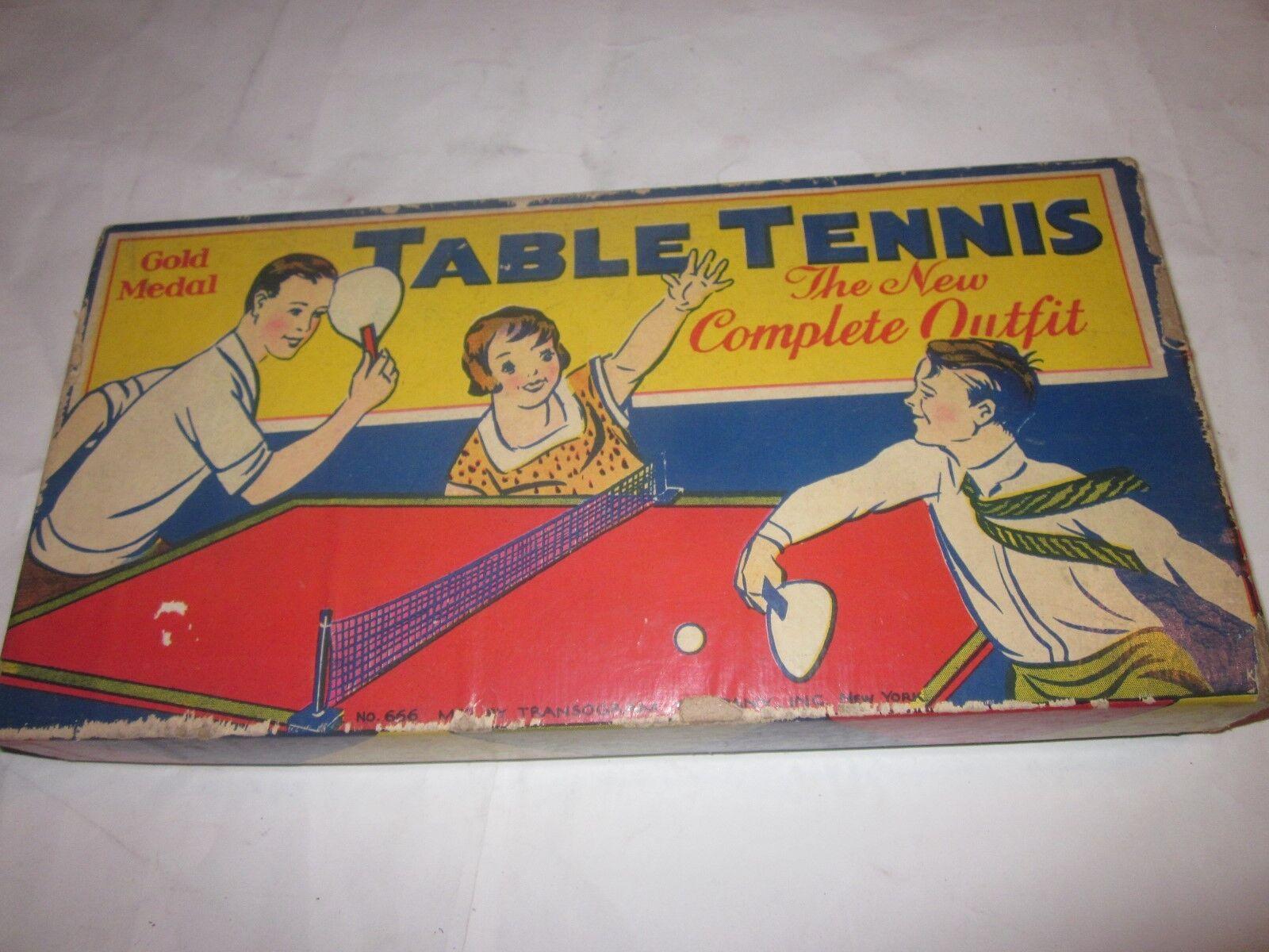 Vintage - tischtennis - spiel die Gold - medaille, die new york transogram