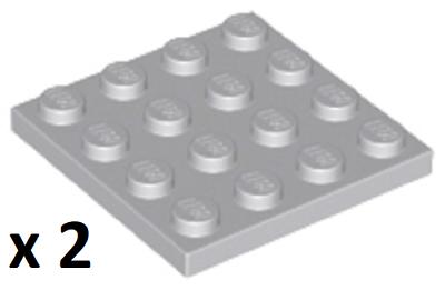 LEGO Bulk 4x4 Light Bluish Grey Plate Train Star Wars Harry Potter Technic City
