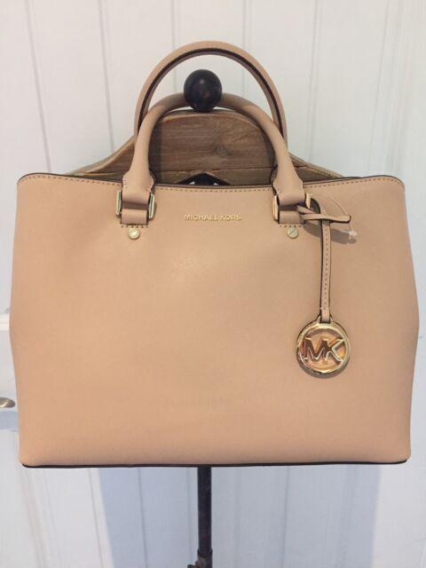 Michael Kors Women S Savannah Lg Satchel Oyster Handbag Nwt
