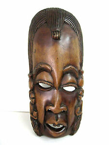 Details About 19 Large African Tribe Tribal Wood Crafted Mask Wall Art Decor Hand Carved 2