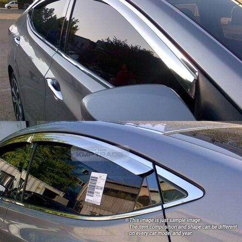 Stainless Chrome Window Sun Vent Visor Molding 4P For CHEVROLET 2006-2011 Epica