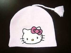 Kleinkinder-Muetze-Babymuetze-Hello-Kitty-rosa-Gr-1-3-Jahre