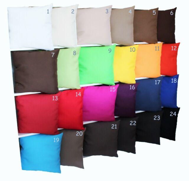 Kissenhülle Kissenbezug Dekokissen 100 Polyester Uni 40x40 40x60 40x80 50x50