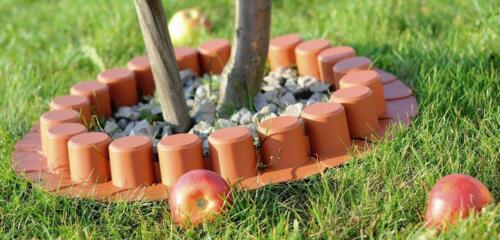 Plastik Garten Zaun Rasen Palisade Baumumrandung Beeteinfassung Rasenkante AL7-T