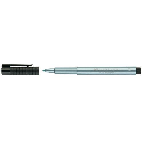 Single 292 - PITT artist pen Bullet Tip Bleu Métallisé Faber-Castell