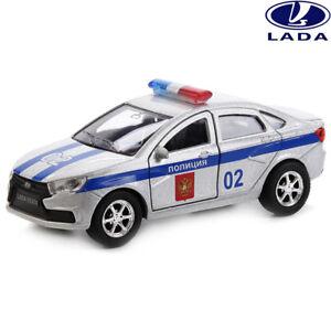 LADA-Vesta-Juguete-De-Policia-Rusa-de-Metal-Fundido-a-Troquel-Cars-Diecast-Modelo-de-Coche