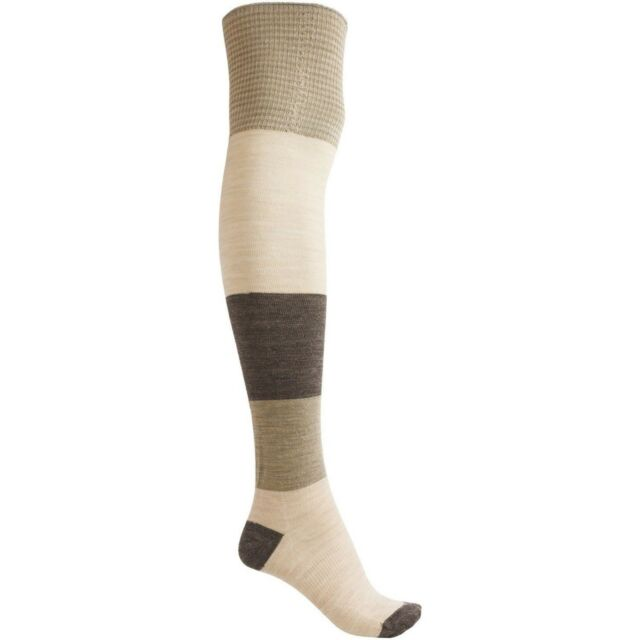bbcf099568a Smartwool Color Block Merino Wool Over the Knee Socks Women s Medium NWT  Natural