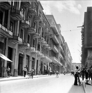SYRACUSE-c-1950-Rue-animee-Corso-Matteotti-Italie-Negatif-6-x-6-ITAL-539