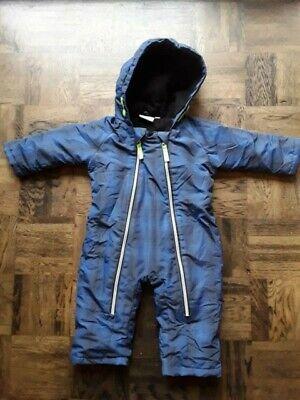 Plüschoverall mit Öhrchen Schneeanzug Winteranzug Wagenanzug Warm Baby 56 62 68