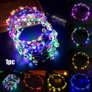 Colorful-Party-Glowing-Crown-Flower-Headband-Girls-LED-Lights-Up-Wreath-Hairband