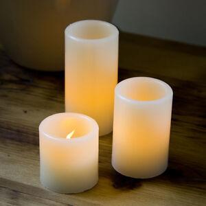 Pack 3 Couleur Changeante bougies de cire DEL sans flamme avec Remot minuterie Vanille Parfum