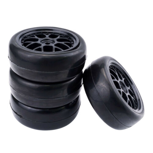 4Pcs Black Rubber Tire Tyres 65mm for Redcat HSP HPI 1//10 Scale RC Car Truck
