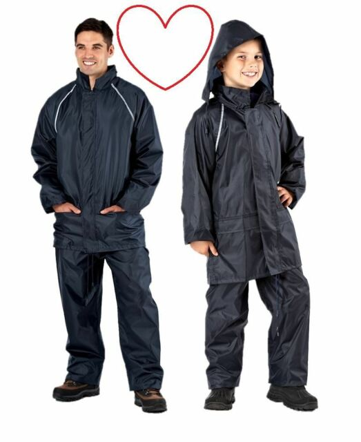 ProClimate 2010 Mens Waterproof Rain Suit Hooded Jacket   Trousers ... 690a2827eaa6a