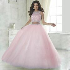 128d640444 2018 Two Piece Ball Quinceanera Dress Sweet 15 Years Prom Formal Party  Dresses