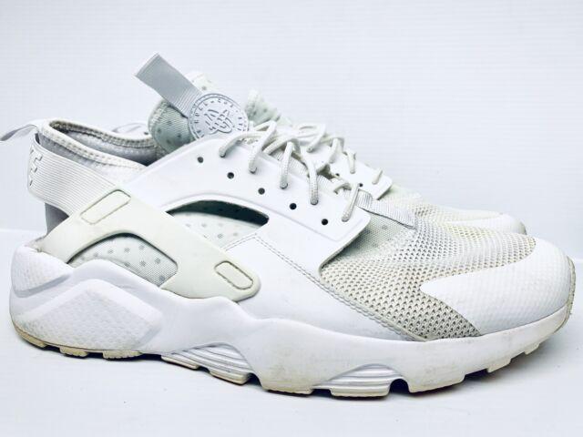 Nike Air Huarache Run Ultra TRIPLE WHITE Running 819685-101 Men's Size 11.5