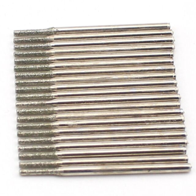 20pcs Drill Bits Diamond Coated Drills Marble Glass Ceramic Hole Cutter 1.5mm