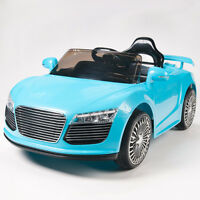 Audi R8 Style 12V Kids Ride On Car Battery Powered Wheels Remote Control RC Cyan