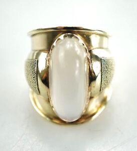 585er-Gold-Ring-14-Karat-Mondstein-Gelbgold-Edelstein-10-42-Gramm-Gr-54