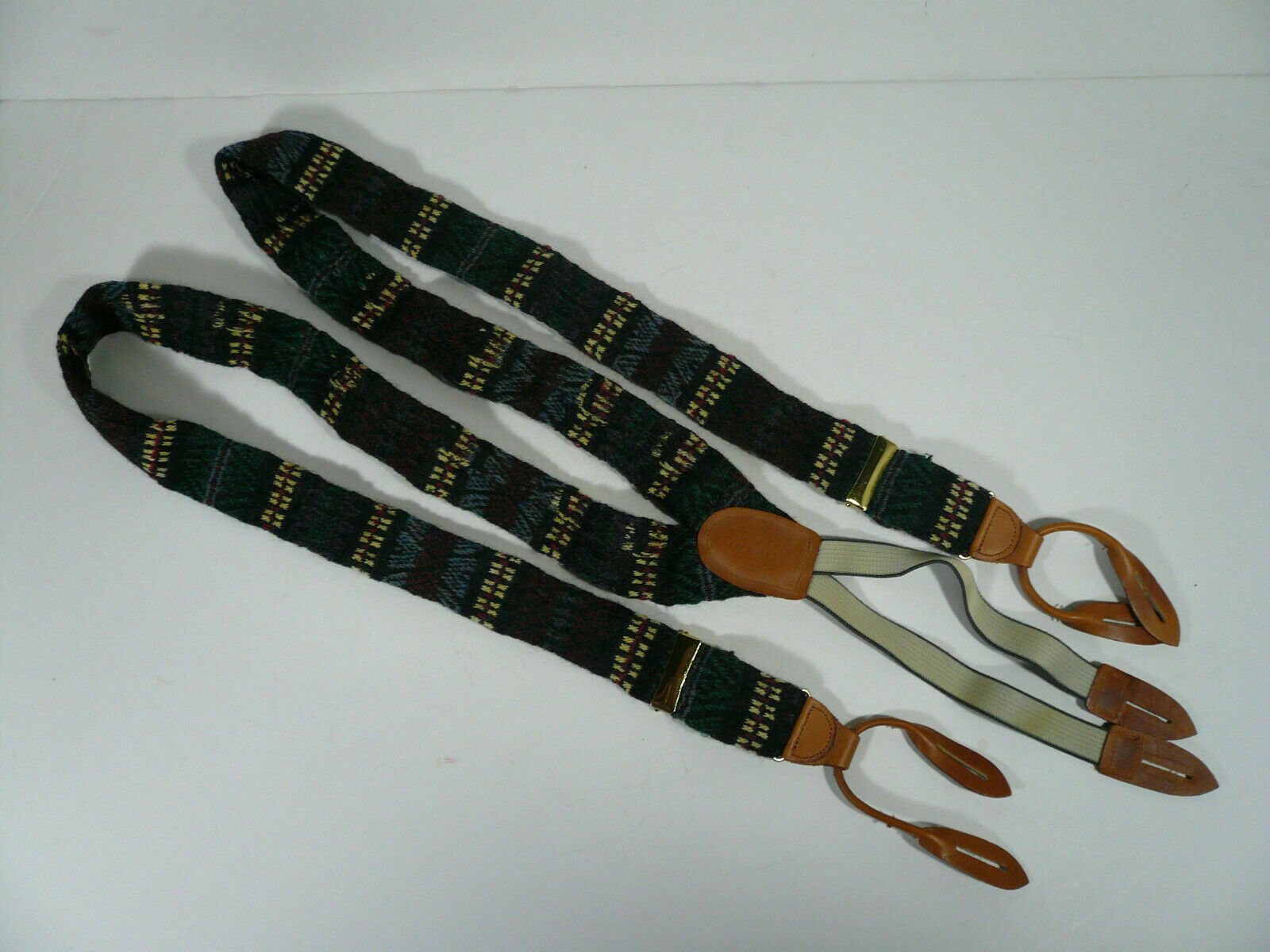 Cole Haan Men's Wool Suspenders Adjustable