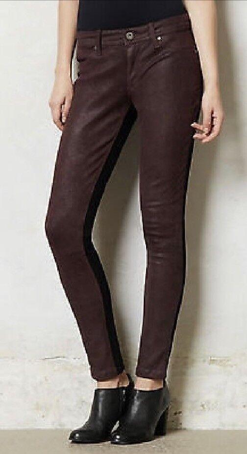 DL1961 Emma Legging 4 Way Stretch 360 Degree Jeans Clutch Wine Leather,Size  27