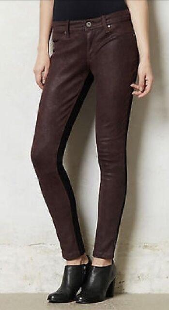 Dl1961 Emma Legging 4 Way Stretch 360 Degree Jeans Clutch Wine