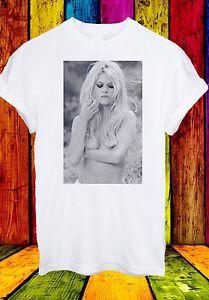 BRIGITTE-Anne-Marie-BARDOT-cantante-attrice-francese-Uomini-Donne-Unisex-T-shirt-304