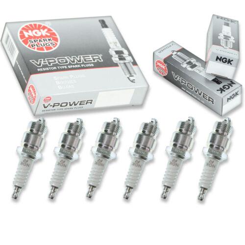 6 pcs NGK V-Power Spark Plugs for 1960-1970 Ford Falcon 3.3L 4.1L 2.8L 2.4L fk