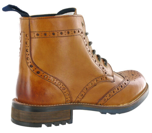 12 6 Brogue Ankle Derby Uk Boots Padded Leather Uomo 7 Classic Smooth Eye 70HqXw