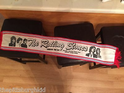 RARE VINTAGE 1982 ROLLING STONES scarf TOWEL CONCERT european tour    BANNER !!
