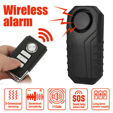 Wireless Motorcycle Bicycle Anti-Theft Alarm Vibration Remote Control Z2B0