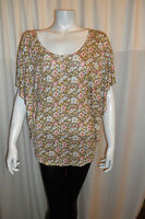 Women Floral Pattern Summer Classic Short Sleeve   Top/Blouse  Size 8-10