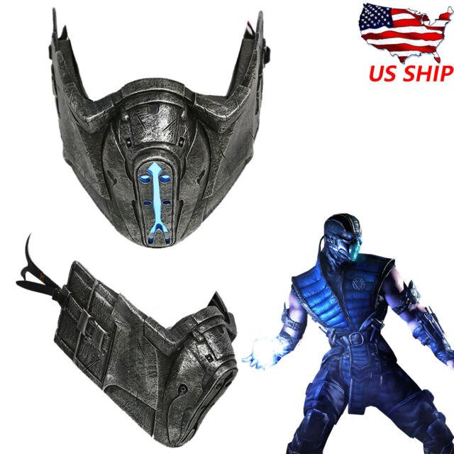 Mortal Kombat Sub Zero Cosplay Mask Mk 10 Led Light Helmet Game