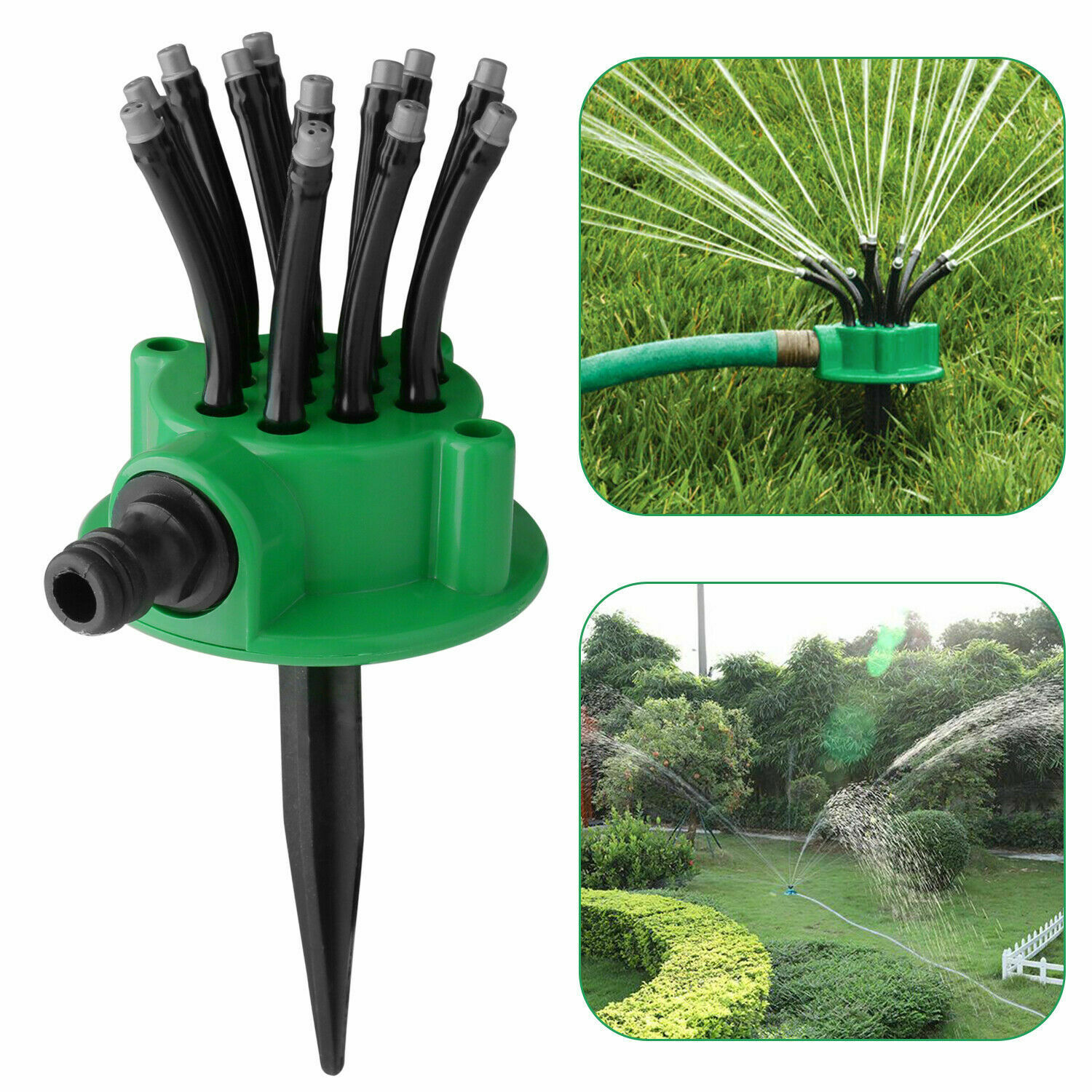 1//2 Inch DN15 Yard Garden Lawn Grass Irrigation 360° Circle Water Sprinkler Head