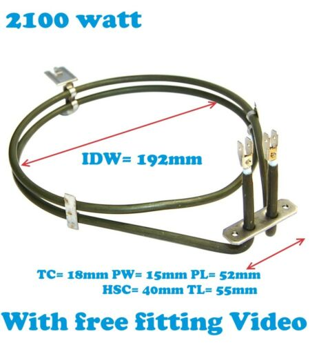 HB530650B//01 Elemento Ventola Forno 2100w 00 Siemens HB530550B//01 HB530650B