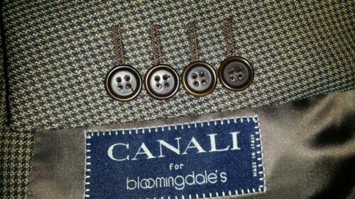 Canali Dents Canvassed Carreaux Fonc 120s Olive 0W0rq4wTan