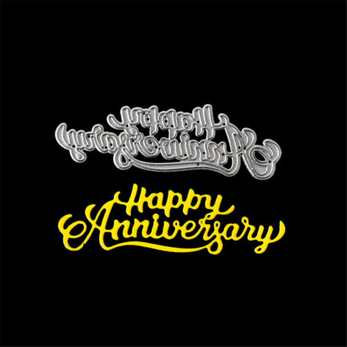 Pip happy anniversary Metal Cutting Dies Stencil Scrapbooking Photo Album Decor""