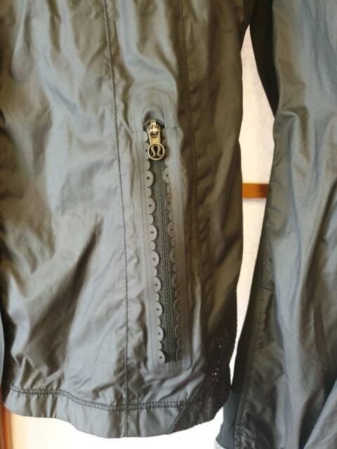 LULULEMON Women's Black RainSpray Jacket Sz M (12 14)