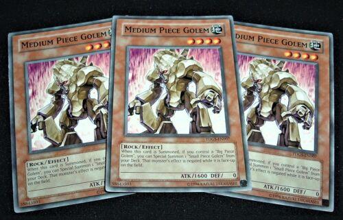 Yugioh Medium Piece Golem TDGS-EN007 NM//MINT 3X Common Unlimited