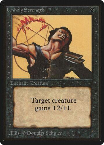 Unholy Strength Beta MINT Black Common MAGIC THE GATHERING MTG CARD ABUGames