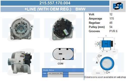 Lichtmaschine 215.557.170.004 mit Original Valeo Regler BMW BMW